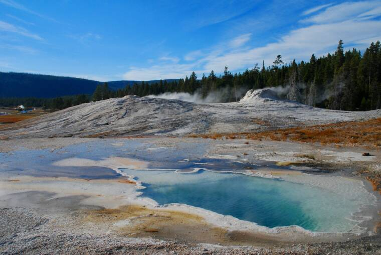 Geyser Pool in Yellowstone National Park