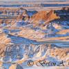 Badlands and Snow Cover