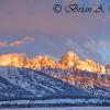 Winter Sunrise On The Tetons