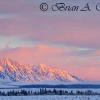 Sunrise On The Teton Range