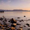 Sun Setting at Cave Cove - Lake Tahoe
