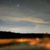 Nighttime at Huron Lake
