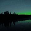 Big Dipper and Aurora - Do you see the Big Dipper Reflections in the Water?